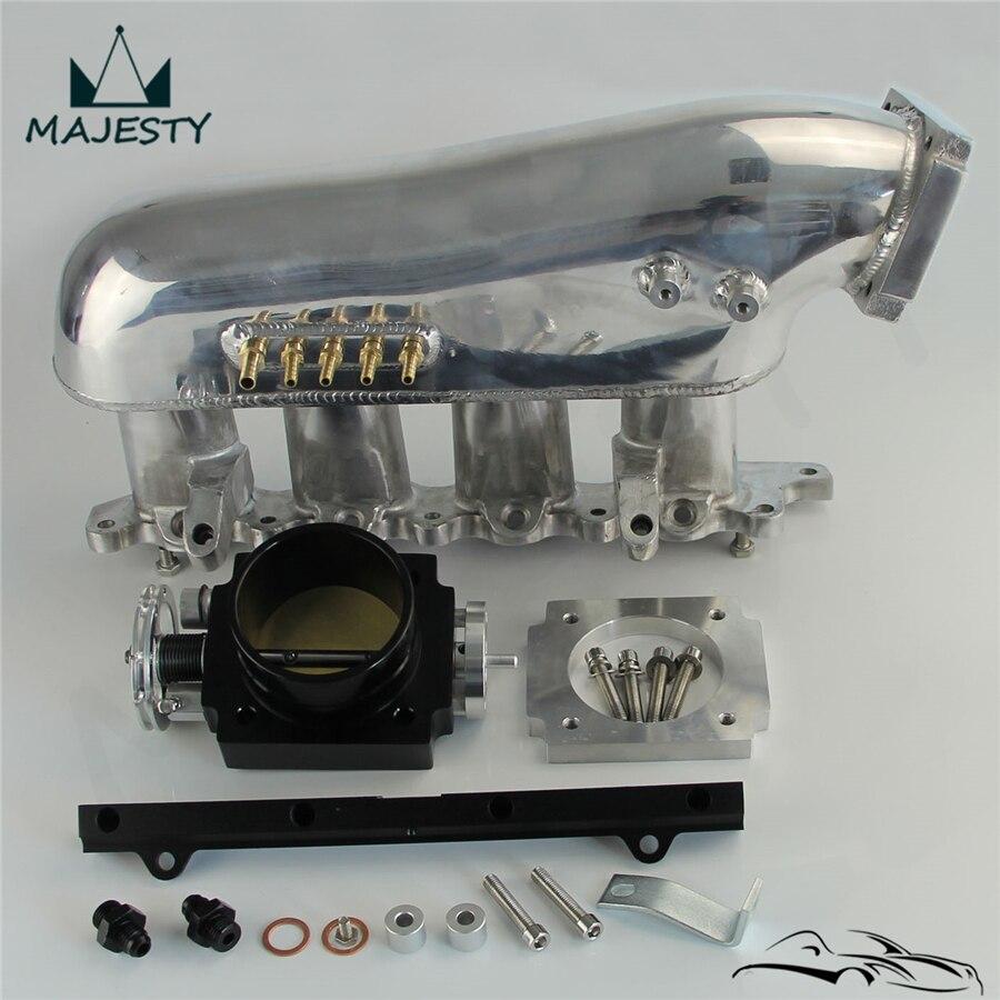 インテークマニホールド + 80 ミリメートルスロットルボディ + 燃料レールは、 m * * itsubishi 4G63 EVO 4-9 ランサー