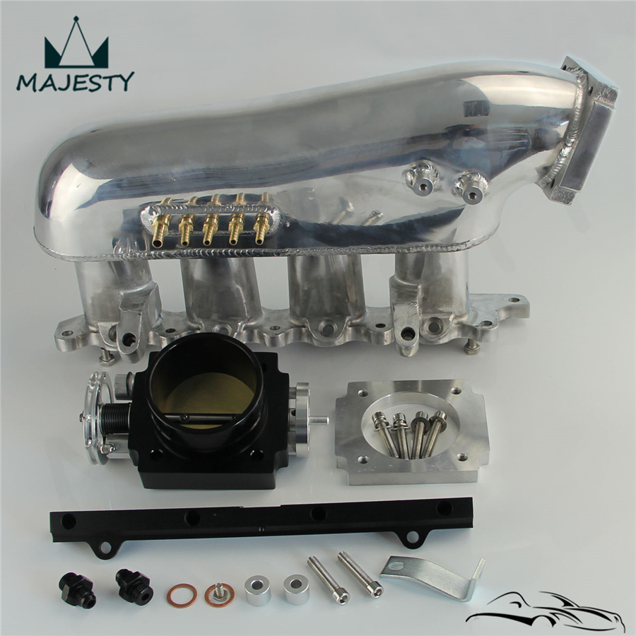 Intake Manifold+80mm throttle body +Fuel Rail Fits for M**itsubishi 4G63 EVO 4-9 Lancer