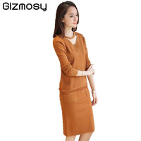 Gizmosy 2 Piece Set Women 2016 Clothing Two Pieces Set Crop Top And Skirt Set Dress