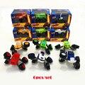 Nueva llegada 6 unids/set monstruo lindo máquina de transformación toys toys vehículo con caja original mejores regalos para los niños