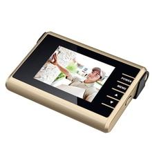 3.0 Pulgadas Inteligente 1.0MP HD Digtial Cámara Mirilla Espectador de La Puerta LED de Visión Nocturna de Detección de Movimiento de 120 Gran Angular Vista de Música timbre de la puerta