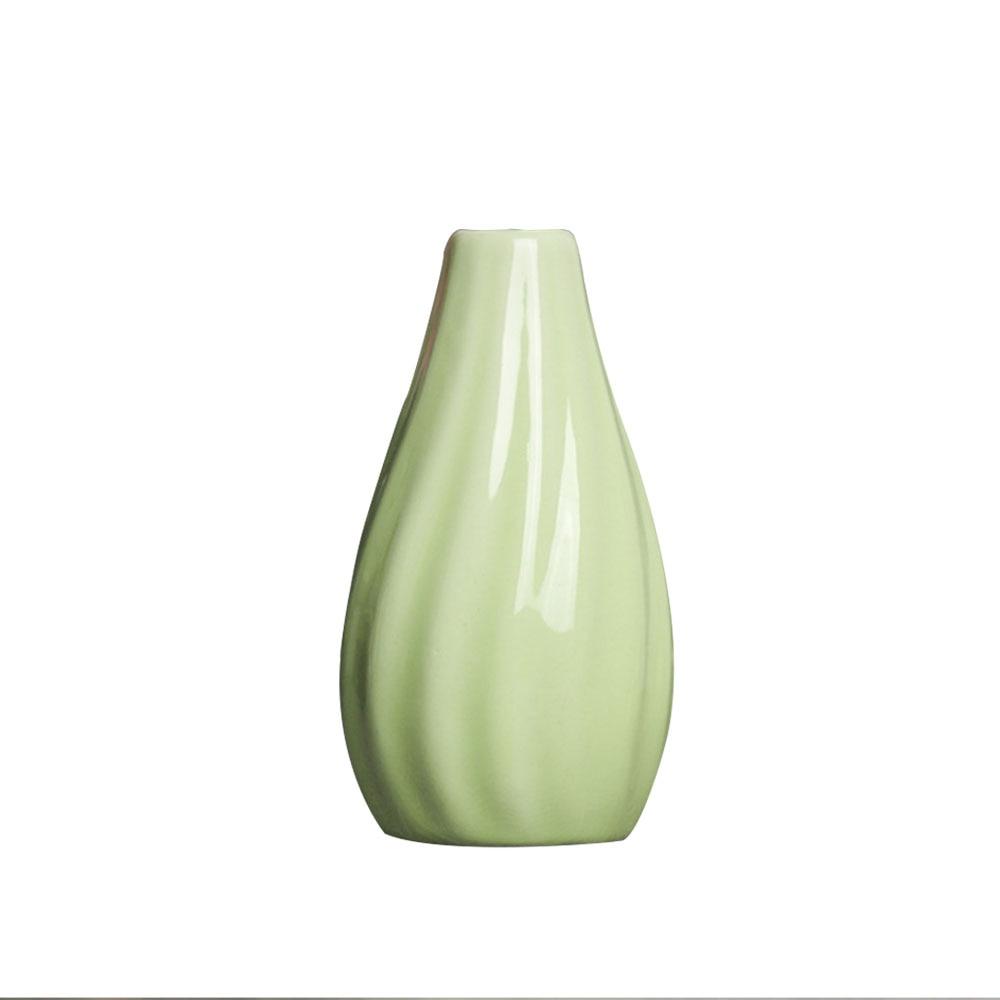 Цветочная ваза горшок для дома Цветочная композиция керамическая ваза в полоску классические свадебные офисные творческие украшения для дома Декор украшения - Цвет: green