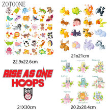 ZOTOONE Cute animal combination patch iron transfer owl English clothing DIY accessories decorative heat vinyl stickers