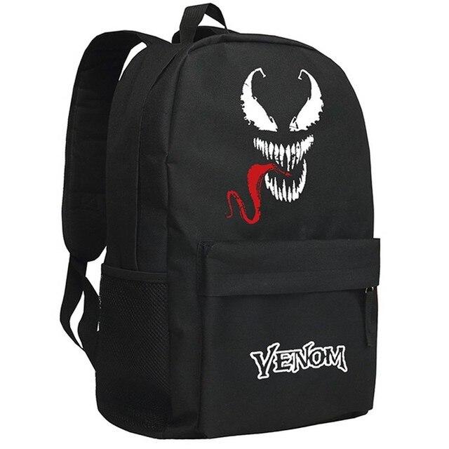 afd85d8a5b MeanCat Marvel Comic Spiderman Venom Guardian of Death Collection School  Backpack Super Star Spider Man Venom Laptop Backpacks