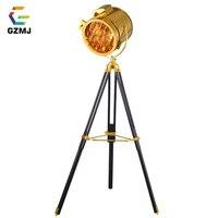 GZMJ Modern Metal Nordic Floor Lamp Studio Study Foyer Standing Floor Lamp Silver Gold Creative Tripod Standing Lamp