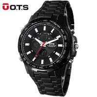 Men Watches 2017 Brand Luxury OTS Man Business Casual Wristwatch Steel Military Sport Relogios Masculinos Digital