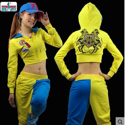 New Fashion Dance Hip Hop Short Top Female Jazz Costume Neon Performance Wear Sexy Costumes Ultra-short Sexy Sweatshirt Online Discount Women's Clothing