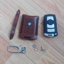 Чехол для ключей из натуральной кожи с 4 кнопками для BMW 7 серии E65 E66 E67 E68