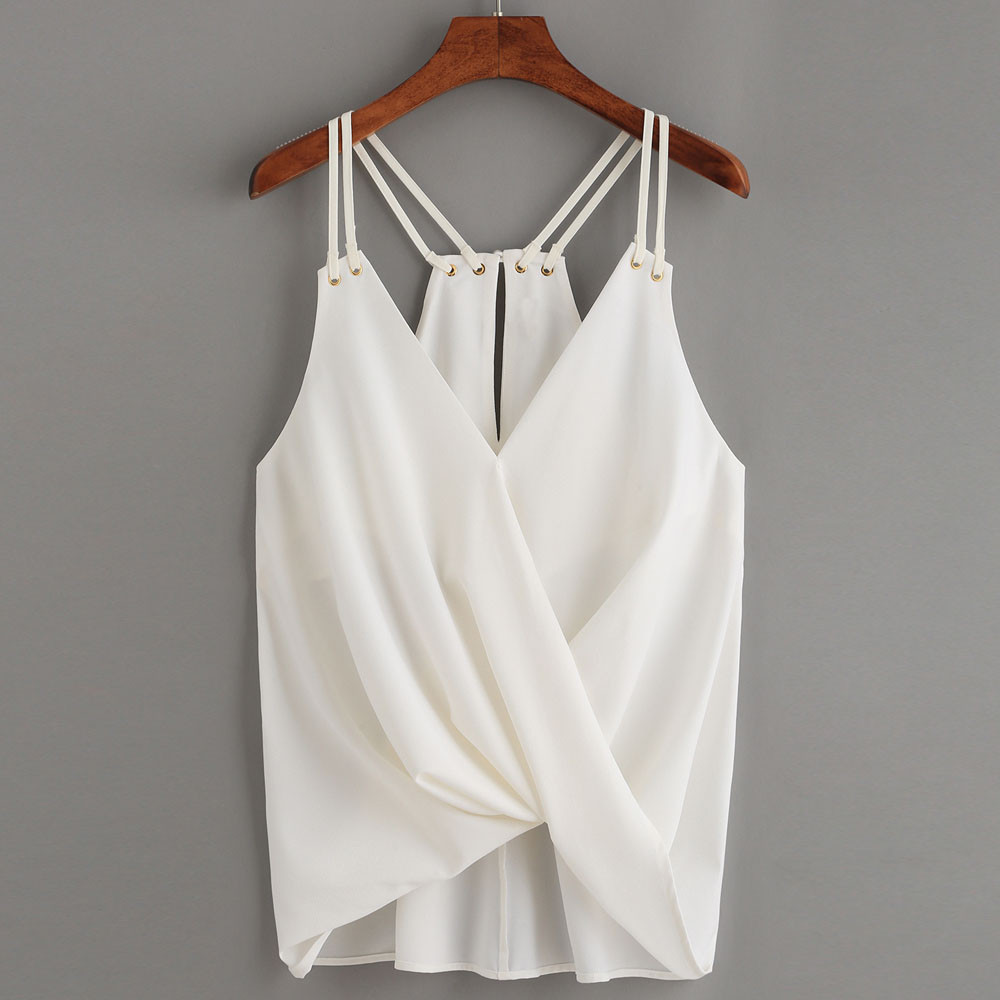 Women T Shirts Summer New Fashion Casual Chiffon Sleeveless Camis Tops Vest Tank Shirts <font><b>camiseta</b></font> <font><b>mujer</b></font> <font><b>verano</b></font> <font><b>sexy</b></font> image