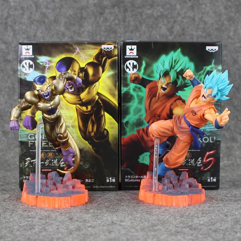 14CM Dragon Ball Z Super Saiyan Goku Son Freeza Freezer Ultimate Form Anime Combat Edition Dragonball PVC Action Figure Toys