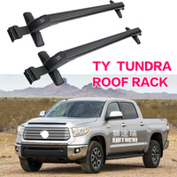 FOR Toyota tundra Pickup Heavy duty Bars with Locking Aluminum Alloy with Luggage Box Bike Rack sport Roof Luggage Trunking