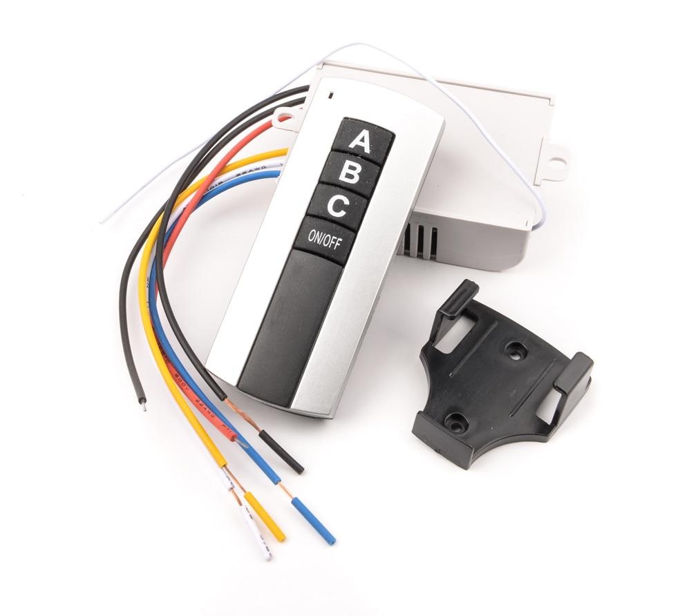 Allsome 220V 3 Channel Wireless Remote Control Switch Digital Remote ...