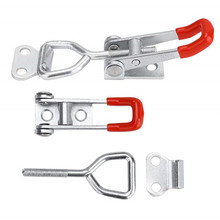 TTLIFE Stainless Steel Toggle Clamp Horizontal Clamp Cabinet Boxes Lever Handle Toggle Latch Catch Lock Clamp Hasp Adjustable 4pcs set adjustable toggle latch catches lock durable cabinet boxes lever handle clamp hasp silver red