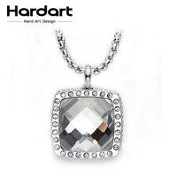 Hardart Gargantilla Collar Cuadrado de Acero Inoxidable 316L collares grandes de Circón Joyería de Moda Collar Para Las Mujeres de Lujo de moda