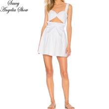 SAUCY ANGELIA Women Summer Dress White Sexy Strap