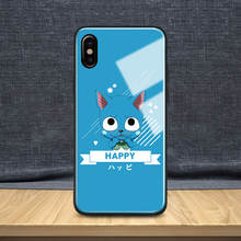 Fairy Tail Tempered Glass Soft Silicone Phone Case For iPhone