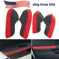 BBQ@FUKA New Car Styling Accessories For Honda 10th Civic 2016 2017 2018 Car Door Armrest PU Leather Surface Shell COVER Trim