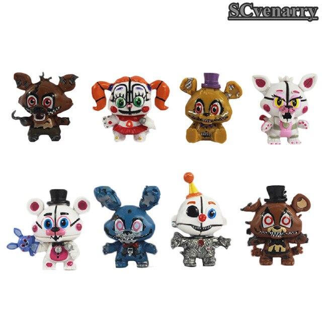 US $10 11 |New FNAF Freddy Mini Figure PVC Five Nights At Freddys Foxy  Freddy Chica Anime Toys 5 6cm on Aliexpress com | Alibaba Group