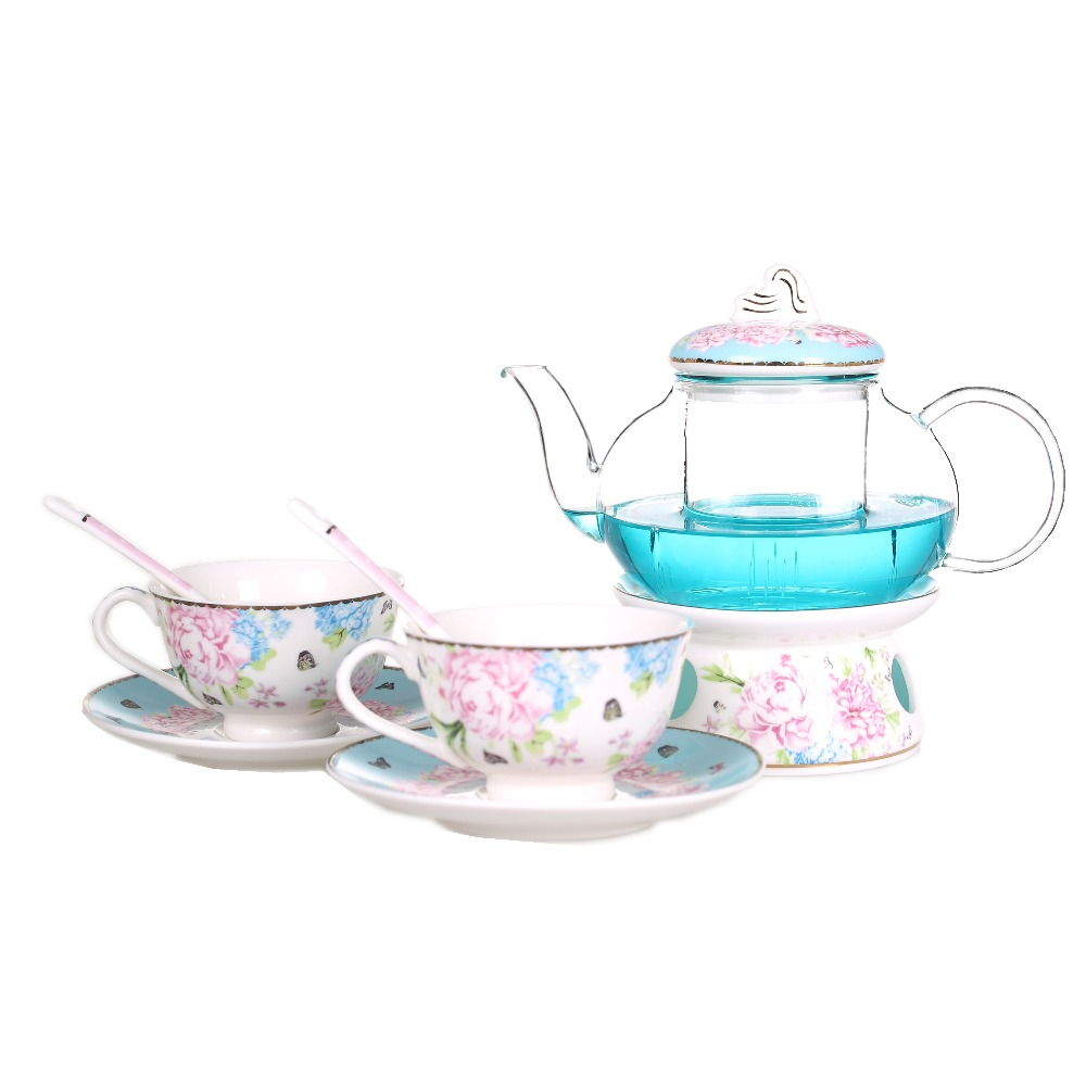 New Arrival Creative Teaware Sets Glass Ceramic Folwer Tea Pot Tea Cup Cooking Fruit British Afternoon Tea Set Free ShippingNew Arrival Creative Teaware Sets Glass Ceramic Folwer Tea Pot Tea Cup Cooking Fruit British Afternoon Tea Set Free Shipping