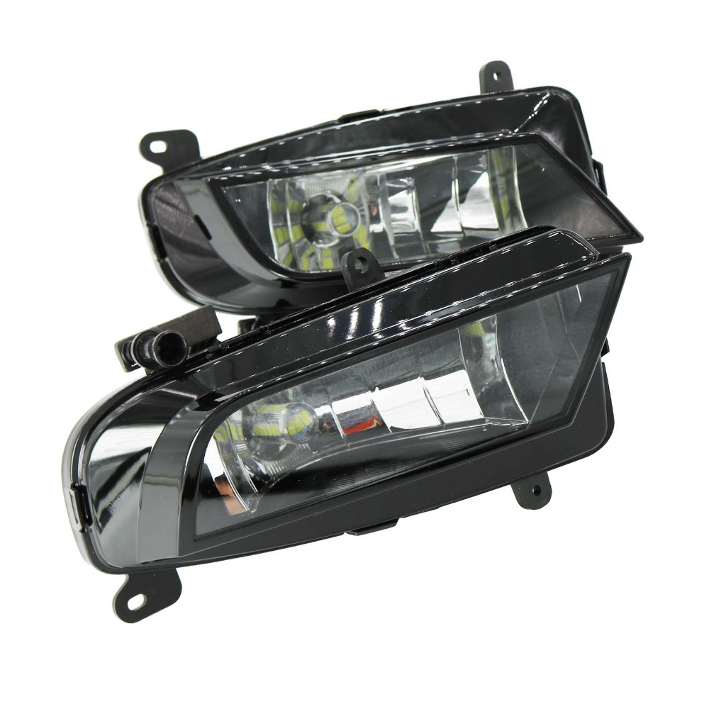 2шт светодиодный свет для Audi А4 В8.5 В9 2013 2014 2015 передние светодиодные Противотуманные фары противотуманный фонарь в сборе с ламп