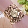 Novas Senhoras Da Moda Mulheres de Ouro Prata Pulseira de Aço Inoxidável Relógio de Quartzo Das Senhoras Vestido Relógios Relogio feminino Dourado Horloge