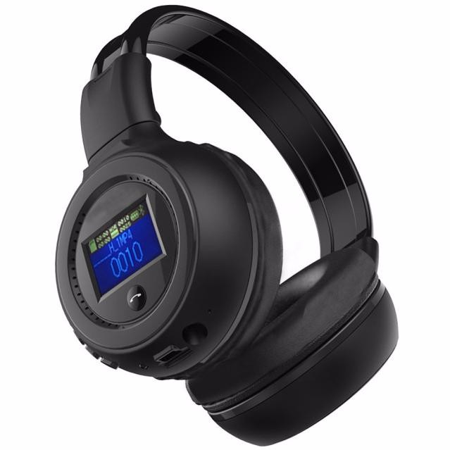 3.0 Stereo Bluetooth Wireless Headset Black Color FM Headphones With Microphone Support Micro SD card/TF cards #SS ks 509 mp3 player stereo headset headphones w tf card slot fm black