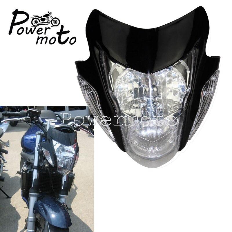 Nake Bike Headlight Motorcycle Front Lamp Head Light For Honda Suzuki Yamaha Kawasaki Streetfighter