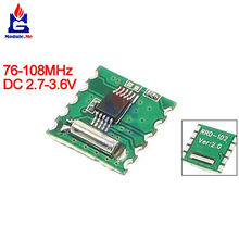FM Stereo Radio Module RDA5807M Wireless Board RRD-102V2.0 for Arduino DC 2.7 -3.6V Frequency 76 -108MHz(China)