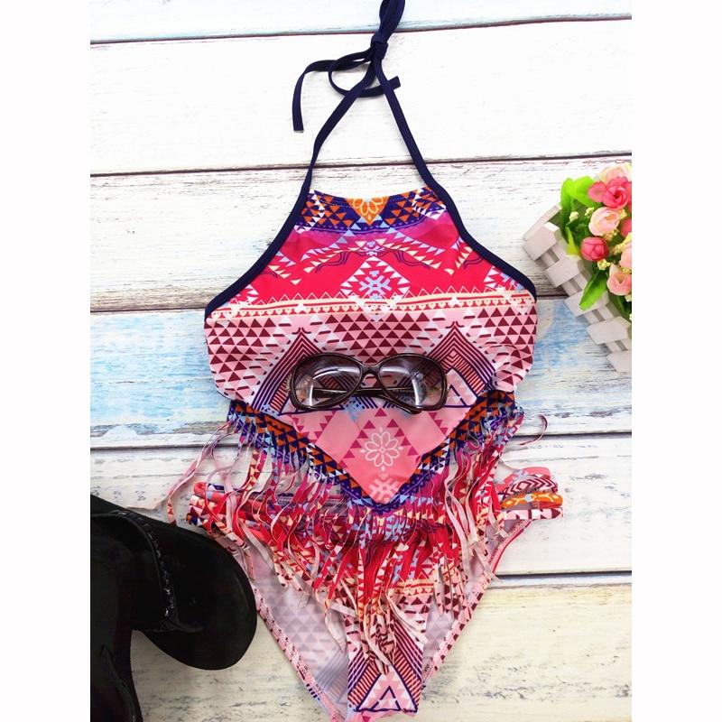 StarHonor Summer Style Bohemia Bikinis Set Tassle Trajes de dos - Ropa deportiva y accesorios - foto 6
