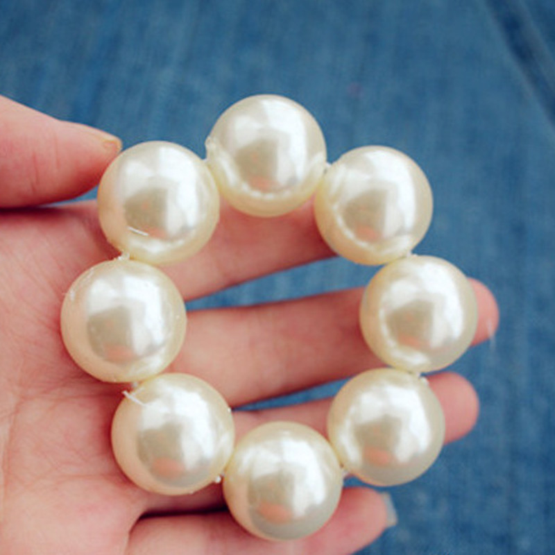 Fashion Hair Accessory New Women Girl Pearl Hair Bands Elegant Headbands Solid White