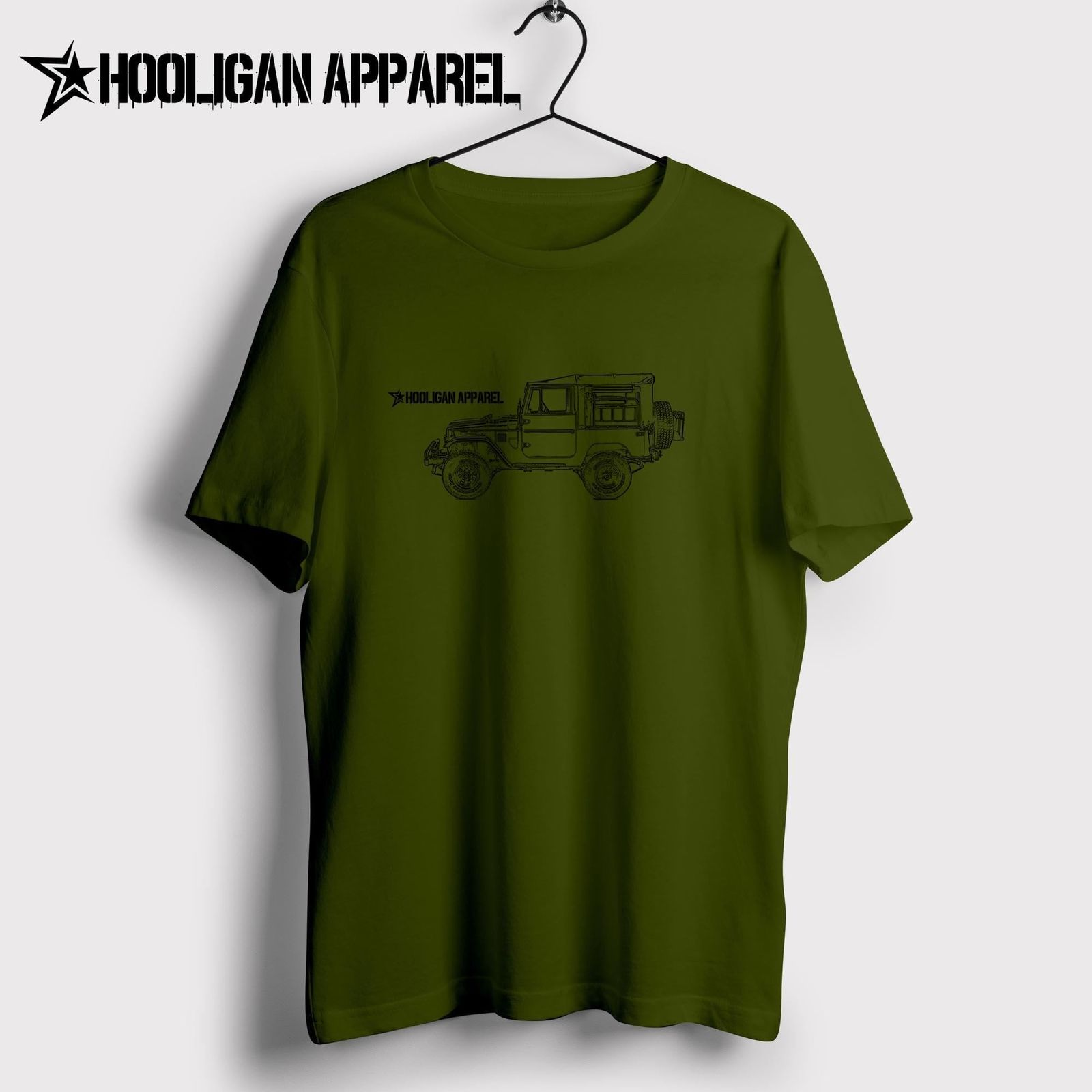 8edfb6b6c23 New Men Shirt Men Summer Tops Classic Japanese Car Fans Land Cruiser Fj49 Tonka  Truck Custom 4X4 Inspired Car Art Hipster Tee-in T-Shirts from Men s ...