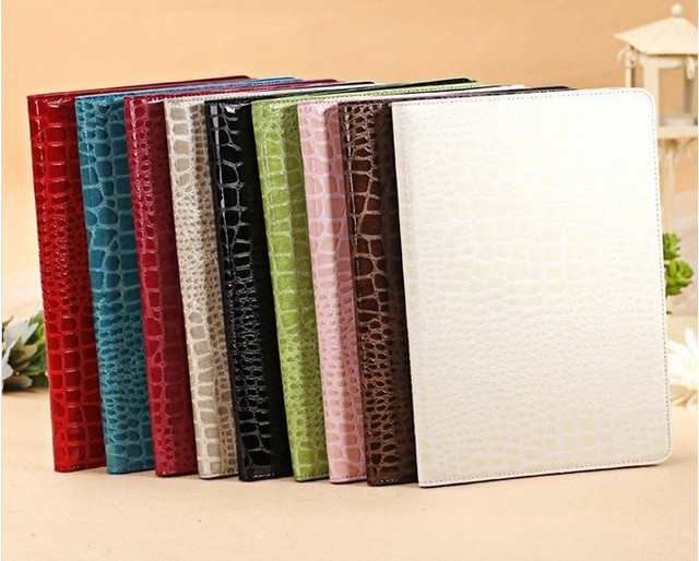 Fashion High Quality Slim Crocodile Leather Case for iPad Mini 1/2