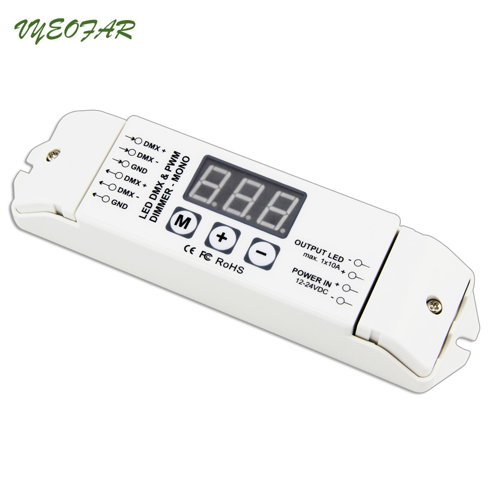 New Led DMX512 Constant voltage decoder;DC12-24V input;10A*1CH output,DMX Decoder Controller Led Screen Master Slave Decoder kvp 24200 td 24v 200w triac dimmable constant voltage led driver ac90 130v ac170 265v input