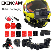 TUYU Store EKENCAM 4 Ways Turntable Buckle Mount Base Motorcycle Motorcycle սաղավարտի փակագիծ SJ4000 Xiaomi Yi 4K GoPro HERO 6 5 4 Session