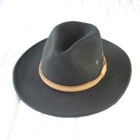 Winter Wide Brim Black Wool Western Cowboy Hats For Men Chapeu Felt Fedora Hats Free Shipping