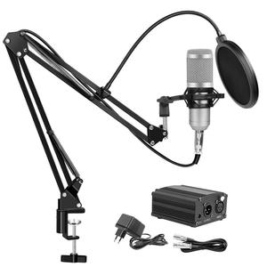 Image 4 - BM 800 Studio Microphone Condenser Microphone Vocal Record KTV Karaoke BM800 microfono For Radio Braodcasting Singing Mic Holder