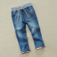 Spring Autumn Baby Boys Jeans Pants 100% Cotton Cusual Denim Long Trousers Kids Toddler Boy Children'S Clothing Clothes 24M 10T