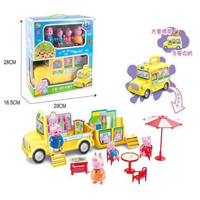 Peppa Pig George Dad Mom Family Picnic Car Toys Action Figure Model Pelucia Toys For Children Gifts