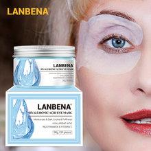 LANBENA Retinol hyaluronik asit VC göz maskesi göz yamaları tamir göz hatlarını azaltır koyu halkalar çanta besler nemlendirici göz bakımı