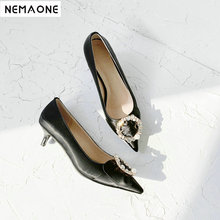 NEMAONE Silk O L high heel shoes woman black silver Spring and Autumn Shoes woman new fashion women pumps