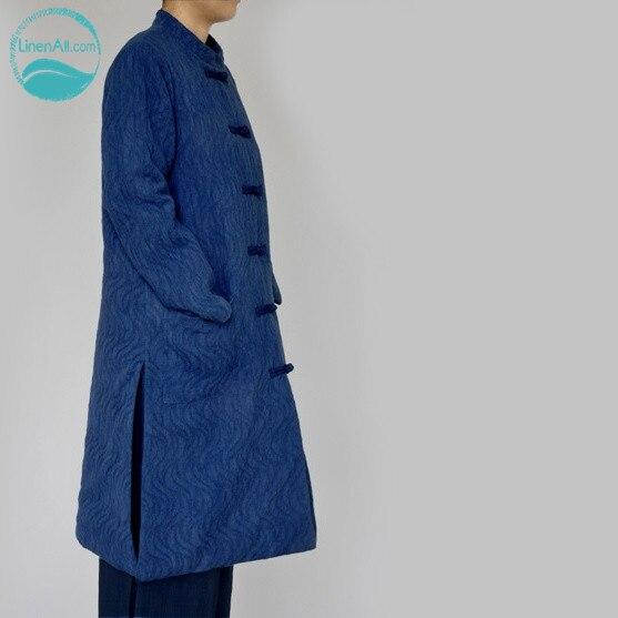 LinenAll натуральное растение, без примесей краситель окрашенный, темный рельефная тарелка китайский унисекс зимняя одежда пальто куртки парк...
