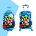 16'' 18'' 19''  Minine Mouse Rolling Luggage For Boys Girls/Children Travel Trolley Case/Kids Cartoon ABS School Bag On Wheels