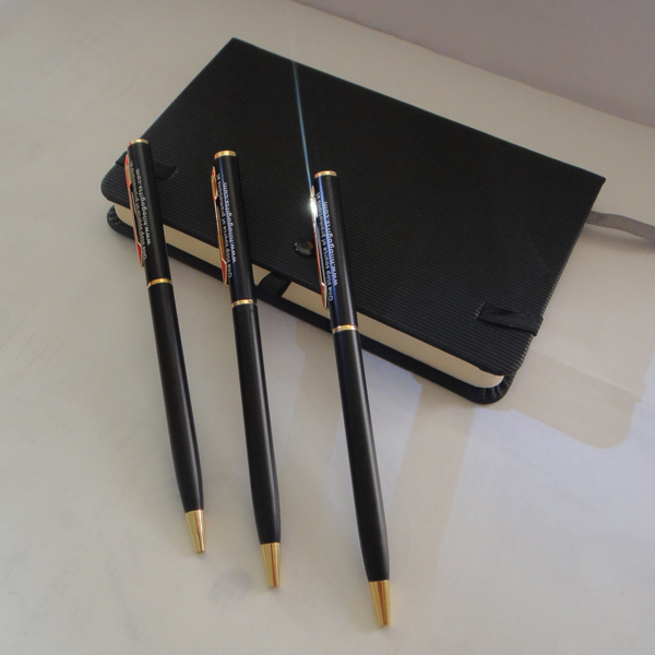 Unique Corporate Anniversary Gift Ideas 10g Gold And Black Roller Pen With Ink Custom