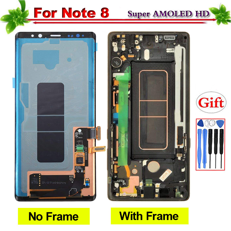 100% Tested Super Amoled for Samsung Galaxy Note 8 N9500 N9500F LCD Display Touch Screen Digitizer Assembly With Frame100% Tested Super Amoled for Samsung Galaxy Note 8 N9500 N9500F LCD Display Touch Screen Digitizer Assembly With Frame