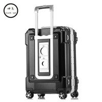 a2616f101 ... caja embarque viaje maleta contraseña. 20 24 28 Inch Larger Capacity  ABS PC Aluminum Frame Luggage Bag Commercial Boarding Case Trolley