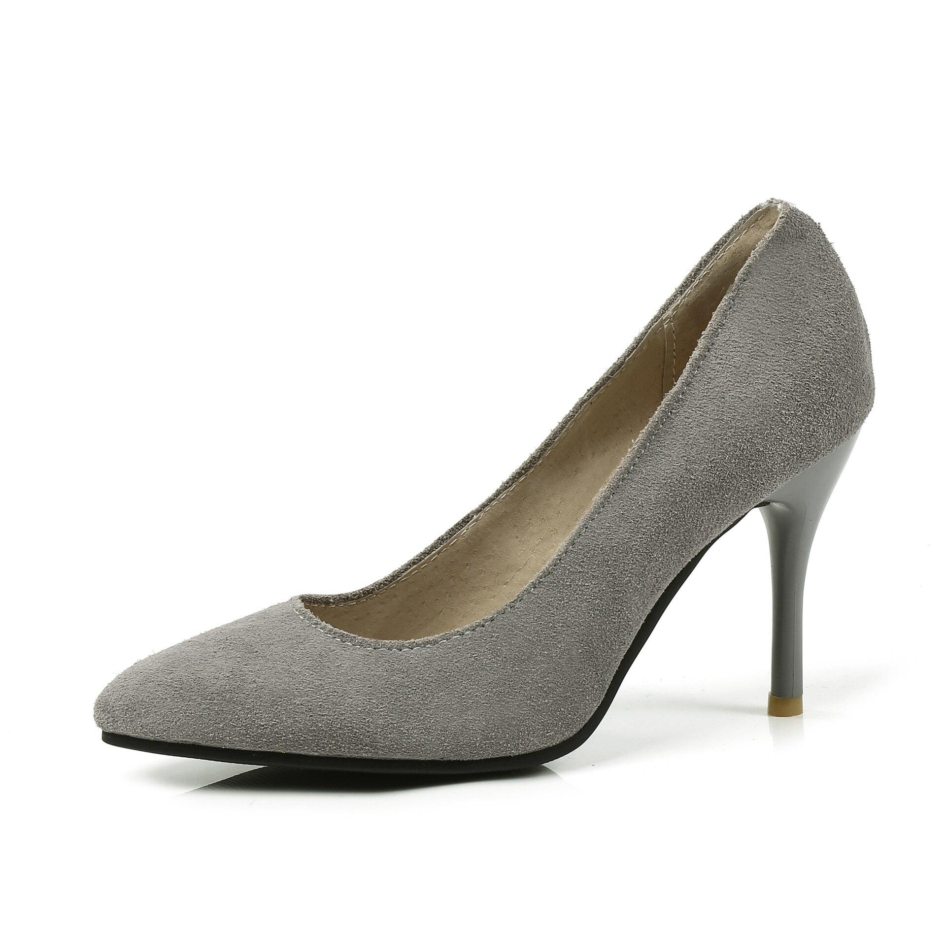Chaussures Amende Code Printemps Simples Pink gris Nouveau 30 Pointu 18316 noir Taille Cuir Naked Sauvage Talons 45 Ol À Hauts En 2018 Professionnel OO0qrwa