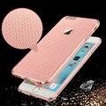 Moda delgadas de diamante de silicona suave caso de la contraportada para apple iphone se 5S/6 6 s/Plus Transparente Volver Funda Para el iphone
