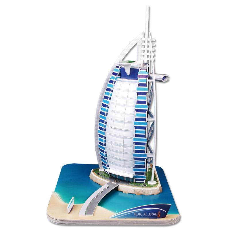 CubicFun 3D puzzle Burj Al Arab educational diy model toy