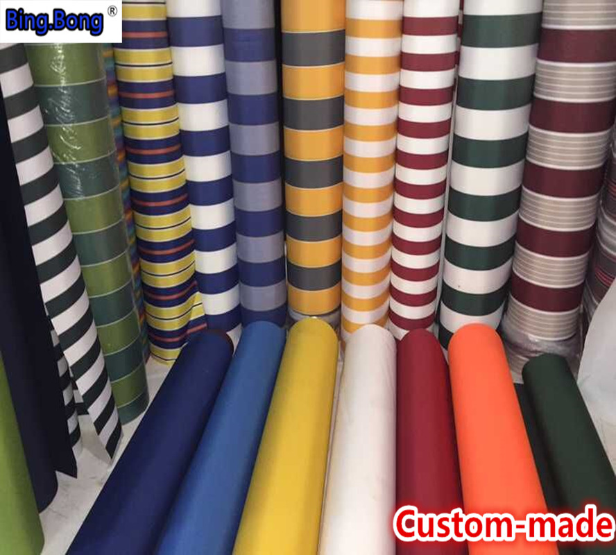 Custom Any Size Canvas Outdoor Waterproof Cloth 280gsm Awning Gazebo Garden Canopy UV Thickin Cloth Fabric Shading Tent Toldo
