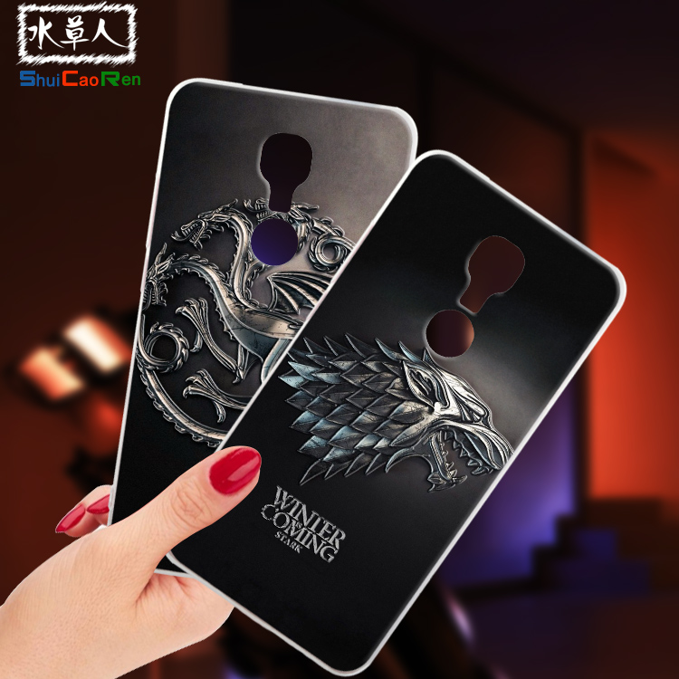 ShuiCaoRen Silicone Cases For Gionee M6 Case M 6 GN8003 play Game of Thrones Black Shell For Gionee M6 Cover
